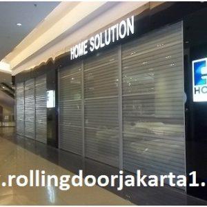 rolling door transparant
